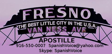 Fresno Apostille Service
